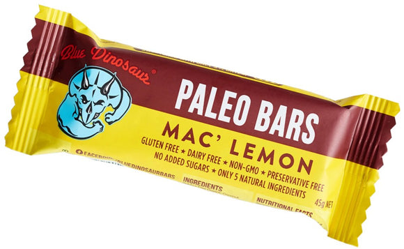 BLUE DINOSAUR Paleo Bars Mac Lemon 45g