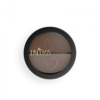 INIKA Mineral Eye Shadow Duo Choc Coff