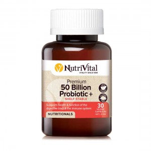 NUTRIVITAL 50 Billion Probiotic + 30vc