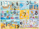 Seaside numbers Poster by June Armstrong