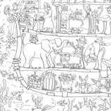 Noah's Ark Colouring Poster