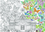 Garden Glass House Colouring Poster