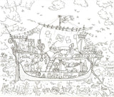 Pirate Ship Colouring Poster