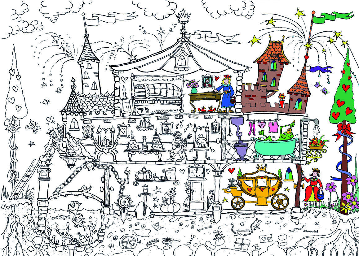 Princess Palace Colouring Poster – ReallyGiantPosters.com
