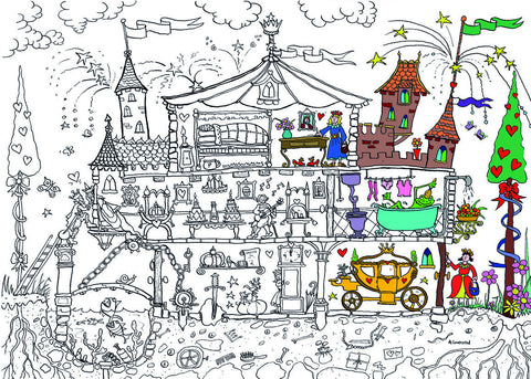 Princess Palace Colouring Poster