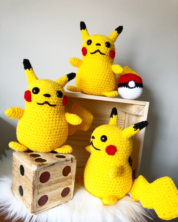 Pikachu Inspired Stuffed Toy