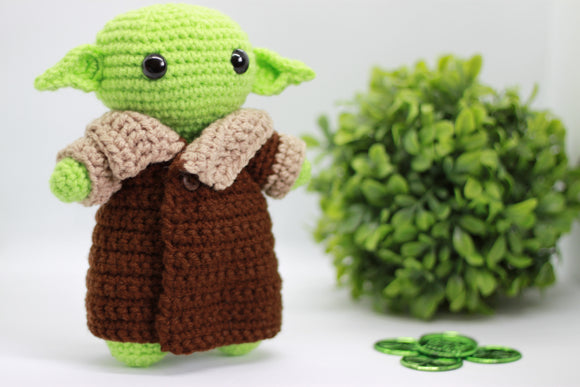 Yoda Inspired Stuffed Toy