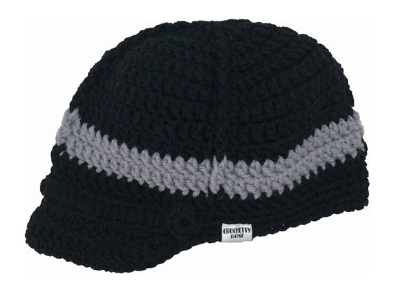 Newsboy Hat 0-3 Months / Black