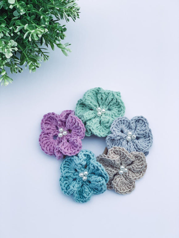 Crochet Daisies Hair Accessories