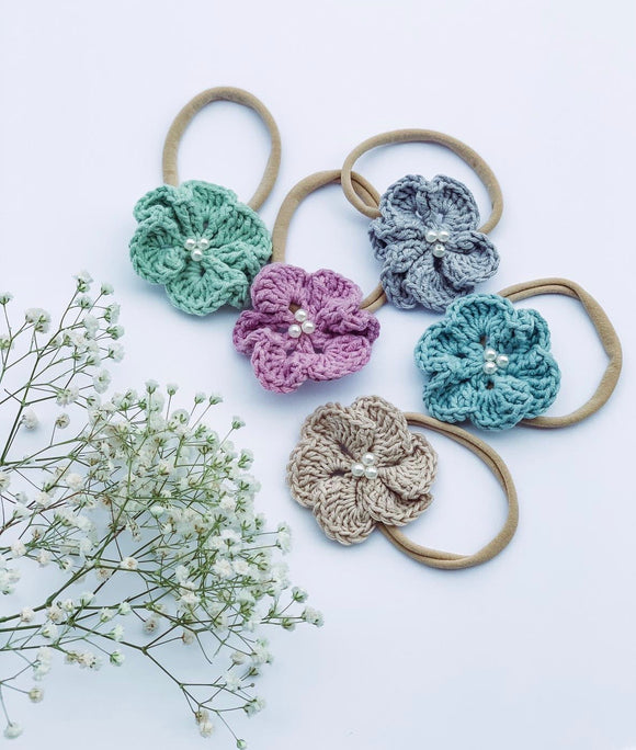 Crochet Daisies - Baby Headbands