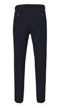 Load image into Gallery viewer, Single Pleated Moleskin Trousers Navy