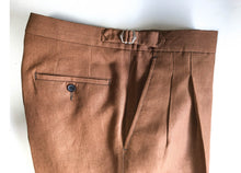 Load image into Gallery viewer, Barnaba II Linen Trousers Cognac