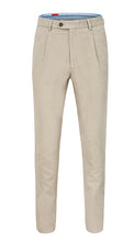 Load image into Gallery viewer, Single Pleated Moleskin Trousers Ivory