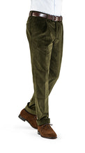 Load image into Gallery viewer, Barnaba I 8 Wale Heavy Corduroy Olive Green