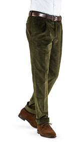 Heavyweight Corduroy Trousers Olive Green