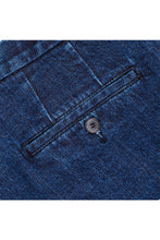 Load image into Gallery viewer, Single Pleated Denim Trousers Blue