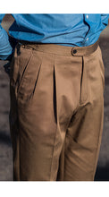 Load image into Gallery viewer, Barnaba II Taupe Cotton Trousers