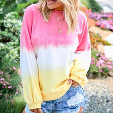 Load image into Gallery viewer, Women's Tie Dye Sweatshirts Gradient Color Casual Long Sleeve Loose Pullover