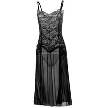 Load image into Gallery viewer, Erotic Sleep Dress Sexy Embroidered Nightgown Lace Sleepwear Lingerie w/ Plus Sizes 5XL 6XL
