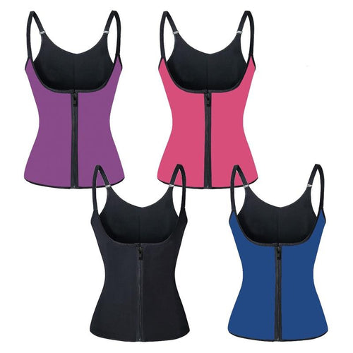 Shoulder Strap Waist Trainer Slimming Belt Vest Anti Cellulite Corset Women Zipper Hook Body Shaper Waist Cincher Weight Loss