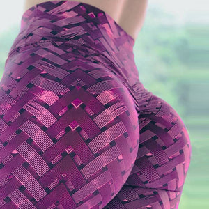Iron Armor Weave Print Leggings High Waist Plus Size Leggings Push Up 3D Workout Elastic Yoga Pants