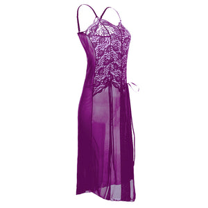 Erotic Sleep Dress Sexy Embroidered Nightgown Lace Sleepwear Lingerie w/ Plus Sizes 5XL 6XL