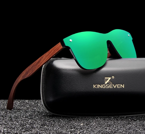 KINGSEVEN Natural Wooden Sunglasses Polarized (Blue, Black, Green, or Red)