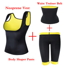 Load image into Gallery viewer, (Vest+Belt+Pant) Neoprene Body Shaper Women's Waist Trainer Slimming Pants Vest Super Stretch Super Control