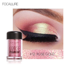 Load image into Gallery viewer, FOCALLURE Glitter Eye Shadow 18 Colors Cosmetic Makeup Diamond Lips Loose Makeup Eyes Pigment Powder Comestic Single Eye Shadow