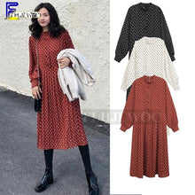 Load image into Gallery viewer, 2019 Spring Loose Plus Size Clothes Dresses Women Korean Style Design Temperament Lady Printed Vintage Polka Dot Dress 4XL 3XL