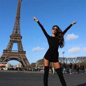 Plus Size Women Clothing 2019 Long Sleeve Mini Bodycon Tunic Slim Party Sexy Clubwear Side Split Tshirt Bandage Dresses M0462
