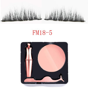 Waterproof EyeLiner Liquid Magnetic Eyeliner Quick dry Eye liner Set Easy To Wear Makeup Cosmetic Rose Gold bottle Eye Liner