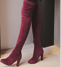 Load image into Gallery viewer, 2019 New Faux Suede Slim Boots Sexy Over The Knee High Women Fashion Winter Thigh High Boots Shoes Woman Fashion