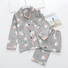 Load image into Gallery viewer, Maple Leaf Print Pajama Set Cotton Long Sleeve Casual Sleepwear