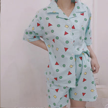 Load image into Gallery viewer, Fox Print Pajama Set Cartoon Print Pajamas Fun Sleeepwear