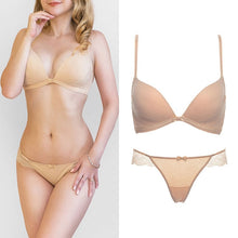 Load image into Gallery viewer, Joy Alive Bra and Panties Seamless Lace Push Up Bra (2 Pieces)