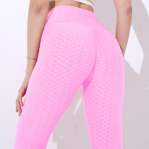 Push Up Leggings with High Waist and Elastic Knitted Spandex (Various Colors)