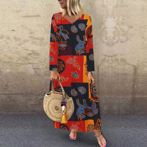 ZANZEA Women Summer Short Sleeve Cotton Linen Dress Vestido Robe Kaftan Femme Vintage V neck Floral Printed Party Sundress 5XL