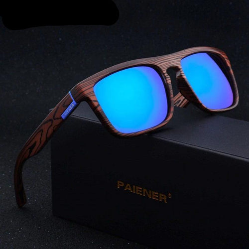 Bamboo Wood Polarized Sunglasses Photochromic UV400
