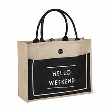Load image into Gallery viewer, High Quality Women Linen Luxury Tote Large Capacity Female Casual Shoulder Bag Lady Daily Handbag Fresh Beach Shopping Bag