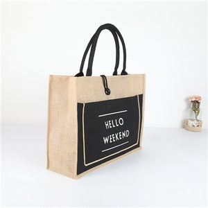 High Quality Women Linen Luxury Tote Large Capacity Female Casual Shoulder Bag Lady Daily Handbag Fresh Beach Shopping Bag