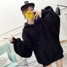 Load image into Gallery viewer, Casual Loose Hoodies Fashion Women's Solid Color Jumper Hooded Long-sleeved Lantern Sleeve Pullover Sweatshirt Tops