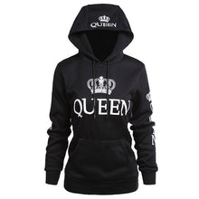 Load image into Gallery viewer, Poshfeel 2018 King Queen Printed Couple Hoodies Women Men Sweatshirt Lovers Couples Hoodies Casual Pullovers Gift