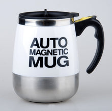 Load image into Gallery viewer, AUTO MAGNETIC MUG coffee milk mix cups 304 stainless steel tumbler Creative electric lazy Self stirring mug