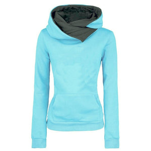 Women Letter Embroidered Pocket Hoodie