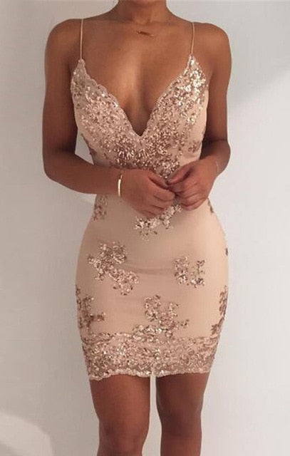 2019 New Sexy Black Gold Sequins Summer Dress Women Midi bodycon Party dress elegant Luxury Night club Dresses vestidos clothes