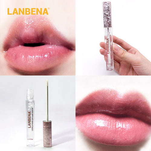 LANBENA Updated Version Lip Plumper Serum Lip Mask Reduce Fine Lines Increase Lip Elasticity Resist Aging Moisturizing Lip Care