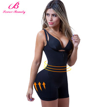Load image into Gallery viewer, Lover Beauty Zipper and Clip Latex Waist Trainer Firm Control Body Shape Wear Bodysuit Butt Lifter
