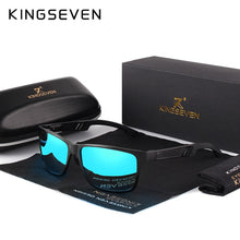 Load image into Gallery viewer, KINGSEVEN 2019 Aluminum Square Men/Women Polarized Coating Mirror Sun Glasses Eyewear Sunglasses For Men