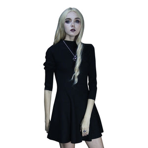 Steampunk Knitting Jacquard Vintage Dress Gothic Long Hooded Dress Women's High Priestess Witch Dresses